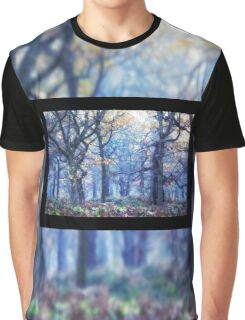 The Enchanted Forest Landscape with Single border Graphic T-Shirt