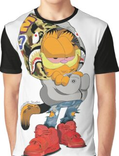 Garfield Bape Graphic T-Shirt