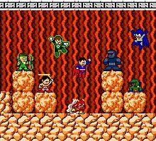 8-bit Justice League/Mega Man Mash-Up by 8 Bit Hero