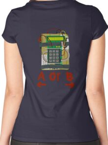 Counter Strike Bomb Text Women's Fitted Scoop T-Shirt