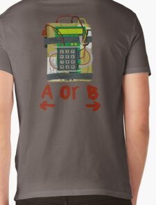 Counter Strike Bomb Text Mens V-Neck T-Shirt