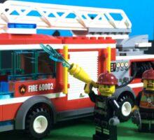 FIRE TRUCK, FIRE TRUCK, FIRE TRUCK Sticker