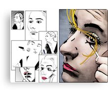 Makeup & Art Canvas Print