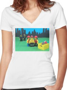 Cops Get No Love Women's Fitted V-Neck T-Shirt