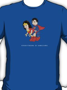 super hero lego - everything is awesome (white text) T-Shirt