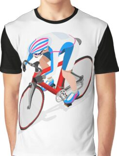 Cycling Track Sports 3D Isometric Graphic T-Shirt