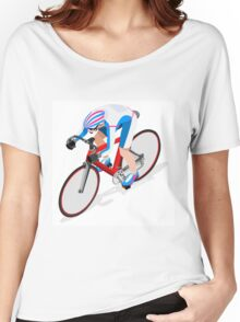 Cycling Track Sports 3D Isometric Women's Relaxed Fit T-Shirt
