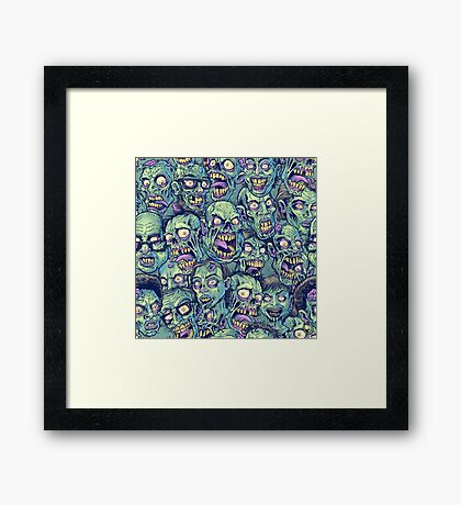 Zombie Repeatable Pattern Framed Print