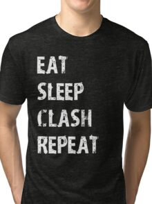Eat Sleep Clash Repeat T-Shirt Gift For Video Game Cute Funny Gift Player App Gamer T Shirt Tee  Tri-blend T-Shirt