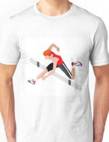 Isometric Athletics Hurdle Jump Sports Unisex T-Shirt
