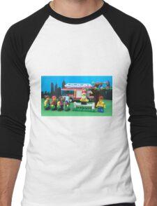Happy Fireman Xmas Men's Baseball ¾ T-Shirt