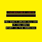 Indisputable Logic - Can't Drink All Day by Erick Sodhi