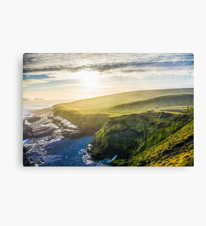 Stunning Cliffs of Moher on West Coast of Ireland on a sunset Canvas Print