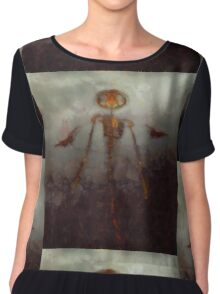 It Came From Hell by Sarah Kirk Chiffon Top
