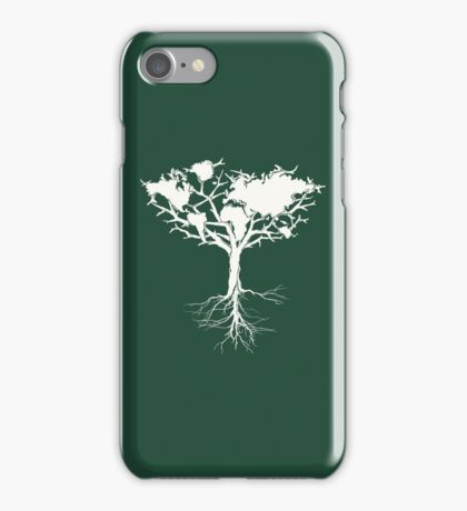 Earth tree *pearl white iPhone Case/Skin