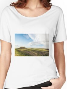 American prairies on a sunny day with a few clouds Women's Relaxed Fit T-Shirt