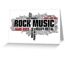 Rock Music Genres Greeting Card
