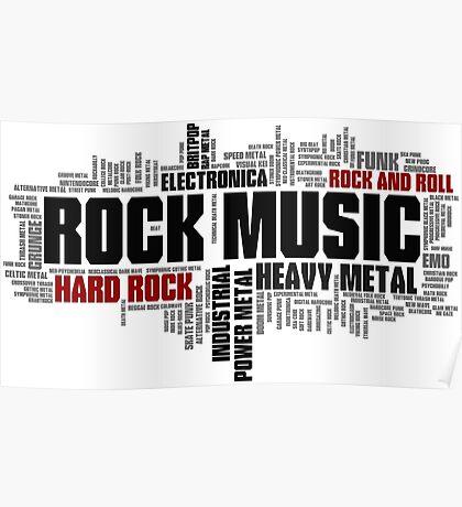 Rock Music Genres Poster