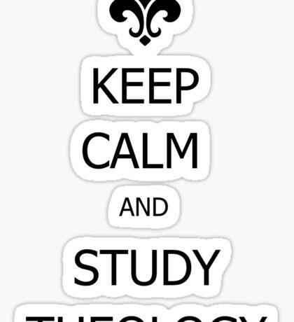 Study Theology Sticker