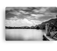 Panorama of the city of Como next to the balcony of the avenue geno Canvas Print