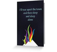 A Tale of Outer Suburbia Greeting Card