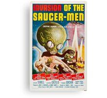 Invasion of the Saucer Men Retro Movie Poster Canvas Print
