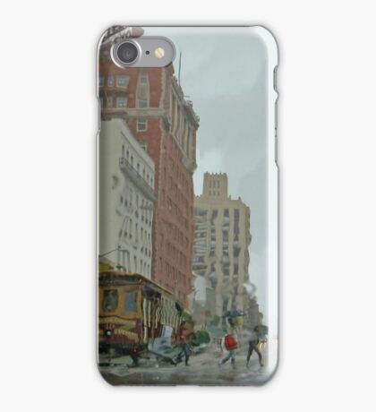 California Street in the Rain iPhone Case/Skin