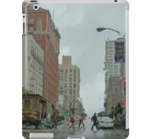 California Street in the Rain iPad Case/Skin