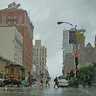 California Street in the Rain by David Denny