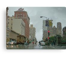 California Street in the Rain Canvas Print