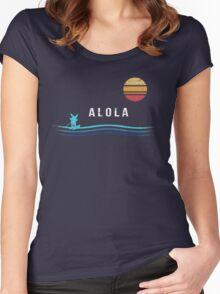 Pokemon Sun and Moon - Alolan Raichu Surfing Women's Fitted Scoop T-Shirt