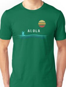 Pokemon Sun and Moon - Alolan Raichu Surfing Unisex T-Shirt