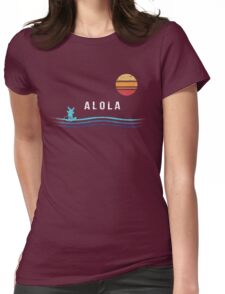 Pokemon Sun and Moon - Alolan Raichu Surfing Womens Fitted T-Shirt