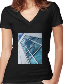 Reflections Of A Sunlit Sky Women's Fitted V-Neck T-Shirt