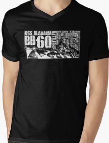 USS Alabama (BB-60) Mens V-Neck T-Shirt