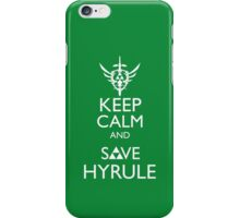Keep Clam and Save Hyrule iPhone Case/Skin