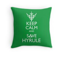Keep Clam and Save Hyrule Throw Pillow