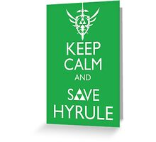 Keep Clam and Save Hyrule Greeting Card