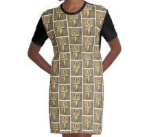 Egyptian Ankh Graphic T-Shirt Dress