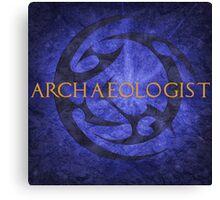 Archaeologist Canvas Print