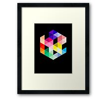 Geometric Color Cube Framed Print