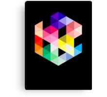 Geometric Color Cube Canvas Print