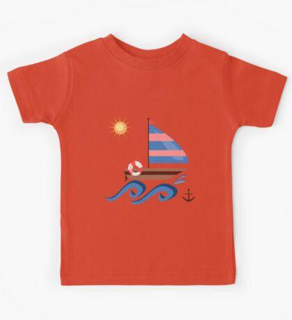 Summer sailboat Kids Tee