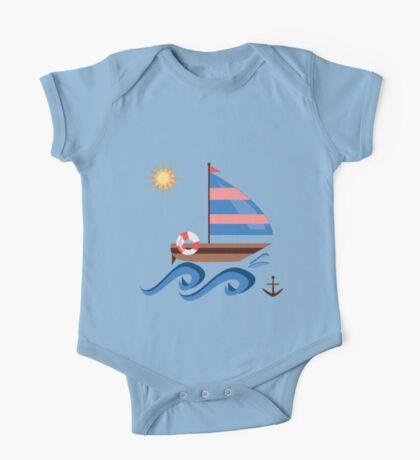 Summer sailboat One Piece - Short Sleeve