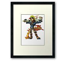 Jak and Daxter Framed Print