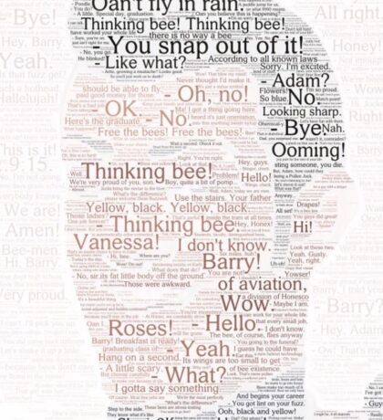 the entire bee movie script but it's colorized and stylized as robbie rotten's face Sticker