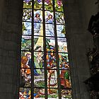 St Barbara's cathedral, Kutna Hora, stained glass window by Margaret  Hyde