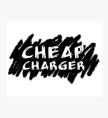 Cheap Charger Photographic Print