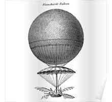Vintage Hot Air Balloon - Blanchard Poster