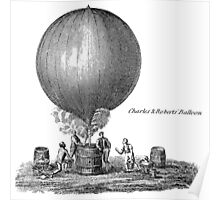 Vintage Hot Air Balloon - Charles Poster